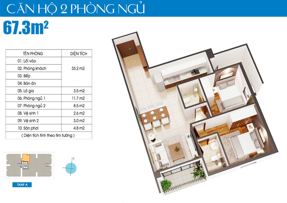 can ho lux city 2 phòng ngủ