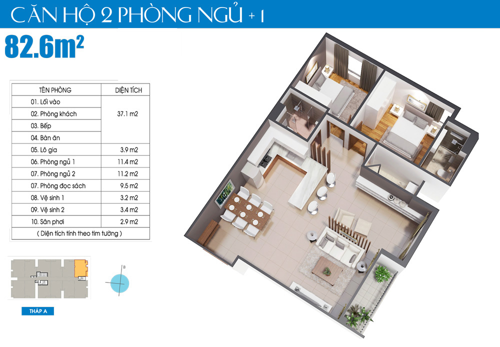 can ho lux city3 phòng ngủ